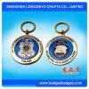 Reflektierende Keychain runde Münzen Keychain harte Emaille-Taste-Halterung