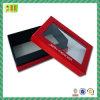 Caja de regalo de la cartulina de la alta calidad con la venta al por mayor clara de la ventana