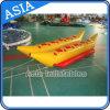 Doppia riga gonfiabile barca di banana per i giochi trainabili dell'acqua
