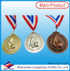 Medals fait sur commande Ribbons Metal Commemorative Medals de Honor Sports Custom 2014 Football Medals Ribbons Metal Commemorative Medals de Sports