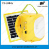 Lámpara solar portable de la linterna LED con la batería del Li-ion y la carga móvil