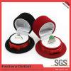 Caja de joyería plástica de empaquetado de encargo hermosa de la multitud del color rojo, cajas para las joyerías