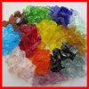 Virutas de cristal coloreadas machacadas tapas del banco concreto