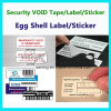 Escritura de la etiqueta destructible de encargo; Papel frágil; Escritura de la etiqueta del sello de la cáscara de huevo