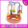 Legno 2015 di intelligenza che mette insieme il giocattolo della stringa di tiro dei branelli, labirinto originale del branello del roller coaster, giocattolo di legno W11b067 del labirinto del branello del gioco divertente