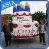 Шарж Inflatable Cake Helium Balloon с Printing для с днем рождения