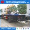 Sinotruk HOWO Flachbett-LKW eingehangener straßewrecker-LKW des Kran-4X2 Flachbett