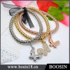 Oro dei monili di modo/braccialetto d'argento #31477 del metallo della corda della canapa