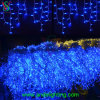 Luzes azuis da corda do sincelo do diodo emissor de luz da decoração ao ar livre do Natal