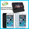 Bluetooth sin hilos que resbala la caja del teclado para el iPhone 6