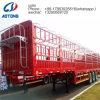 Semi Aanhangwagen van de Omheining van de Staaf van het Pakhuis 3axle 60ton van de Verkoop van China de Hete Op zwaar werk berekende