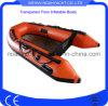 Barche di rematura gonfiabili di pesca di PVC/Hypalon con il materiale trasparente del PC