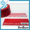 Roter heller Besetzer-offensichtliche Sicherheits-Dichtungs-Aufkleber-Kennsätze