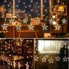 [10م] 12 [لدس] نجوم [لد] ستار ضوء لأنّ عطلة زخرفة