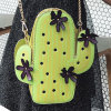 Saco de ombro pequeno de couro do projeto da flor da bolsa do tamanho do plutônio da forma com a corrente para as meninas Sy8505