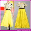 Весна/женщин типа лета 2014 платье вечера новых желтое