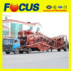 25m3/H - 75m3/H Movable Concrete Batching Plant com Truck Chassis