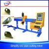 Eenvoudig en Stabiel CNC van de Pijp van de Buis van het Staal Hol Plasma /Flame die het Boren snijden Inlassend Machine