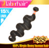 человеческие волосы 100% Virgin объемной волны 7A Peruvian Extensions в 20