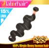 Estensioni peruviane dei capelli umani del Virgin dell'onda del corpo, capelli 100% Weav
