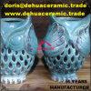 sostenedor de vela de cerámica de la estatuilla del regalo de la decoración del jardín del buho de la porcelana antigua dB1007 para la venta