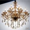 leuchter-Lampen-Beleuchtung des Ähnliches Gold15-lights moderne Kristall, 15 Birnen-Durchmesser des x-E14 Maximum-40 W 80 cm-Kognak-Kristall-Absinken