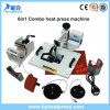 Máquina combinada de la prensa del calor de la alta calidad 6in1 para la venta