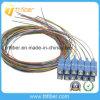 12 Couleur Sc / UPC monomode 12 fibre à noyau Opitc Pigtail