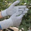 Guante resistente cortado ajuste estupendo del trabajo de la seguridad de la PU de los guantes de la prueba de petróleo