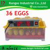 Détenant 36 oeufs de poule CE approuvé pour la vente d'Incubateur d'oeufs de poulet