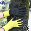Перчатка ладони нитрила отделки Nmsafety Sandy покрытая