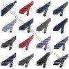 Relations étroites rayées en soie d'arrivée d'affaires de polyester formel neuf d'édition pour les hommes