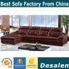 Kaffee-Farbe modernes L Form-echtes Leder-Sofa (A32)