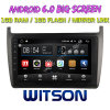 Grand écran 9 WITSON Android 6.0 voiture DVD POUR VOLKSWAGEN Polo 2012