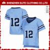 De uitstekende kwaliteit paste het Amerikaanse Blauw van Jersey van de Uniformen van de Voetbal (aan eltfji-72)