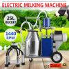 Новое электрическое ведро насоса поршеня 25L вакуума доя машины автоматическое для фермы Cows