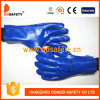 Синий ПВХ рабочие перчатки Dpv506