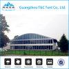 Tienda transparente del almacenaje del PVC de la carpa de la curva con tallas y dimensiones de una variable