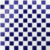زرقاء و [موسيك تيل] بيضاء زجاجيّة