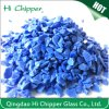 Virutas de cristal decorativas del terrazo opaco del azul de cobalto