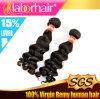 перуанское Unprocessed глубокое выдвижение 100% человеческих волос волны 7A Lbh 167
