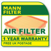 Mann Aire C2512 Filtro para el coche Renault Megane, Scenic