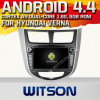 A9 Chipset 1080P 8g ROM WiFi 3G 인터넷 DVR Support를 가진 Hyundai Solaris를 위한 Witson Android 4.4 Car DVD