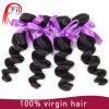 安い製品の加工されていない100%純粋なインドの毛の拡張は波を緩める