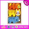 2014 neues buntes hölzernes Kind-Block-Puzzlespiel-Spielzeug, Popualr Kind-hölzernes Block-Puzzlespiel, heißer Verkaufs-reizendes Baby-Block-Puzzlespiel gesetztes W13e027