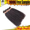 9A巻き毛のブラジルの人間の毛髪は熱い販売を織る