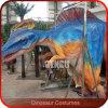 Traje ocultado mecánico del dinosaurio de las piernas de la demostración de la etapa
