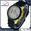 Horloge van de Dames van de Manier van de Manchet van het Geval van de Legering van de Riem van het silicium het Materiële