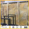 Lastre gialle classiche del Onyx di Mateiral Messico della costruzione per la parete interna