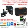 4.3inchはスポーツの処置のMotoのバイク車手持ち型GPSを防水する